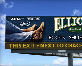 Elliott's Boots and Shoes Billboard