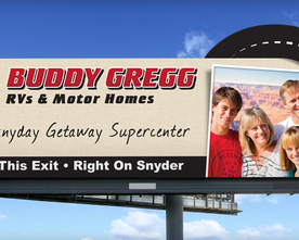 Buddy Gregg Billboard
