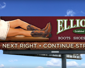 Elliott's Female Boots & Shoes Billboard