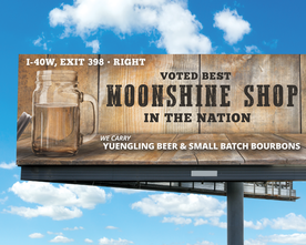 MC's Wine & Liquor Moonshine Billboard