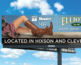 Elliott's Female Boots Billboard