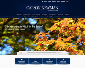 Carson Newman Website Redesign