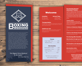 Boxing Weekend 2016 Trifold