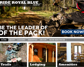 Ride Royal Blue Website