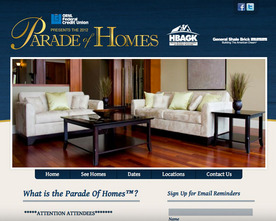Parade of Homes Website