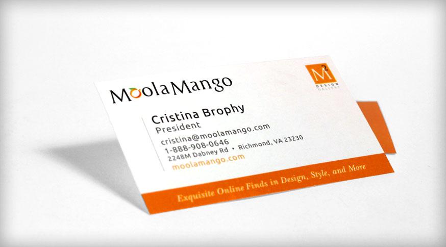 Portfolio trademark advertising moola mango business cards next project colourmoves